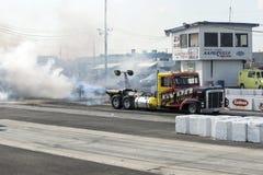 Camion con il motore di aerei Fotografia Stock Libera da Diritti