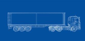 Camion con il semirimorchio Vettore illustrazione di stock
