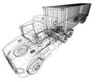 Camion con il semirimorchio Vettore illustrazione vettoriale