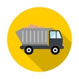 Camion con l'icona della sabbia Fotografia Stock Libera da Diritti