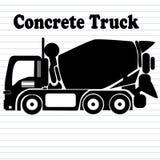 Camion concreto Fotografia Stock