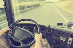 Camion conduisant l'effet d'instagram Images stock