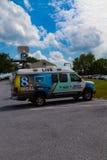 Camion d'actualités de la chaîne de télévision 8 de WGAL Photo libre de droits