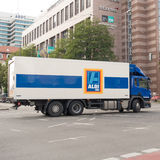 Camion d'Aldi Photos stock
