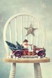 Camion d'annata di Natale Fotografia Stock
