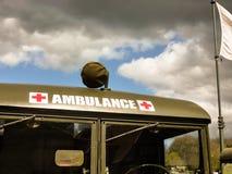 Camion d'armée médical Images libres de droits