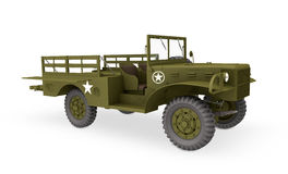 Camion 3d de l'armée américaine Images stock
