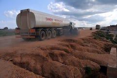 Camion d'essence dans Juba, Soudan du sud Photos stock