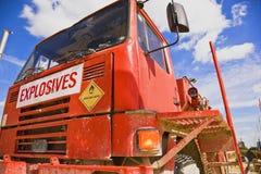 Camion d'explosifs Photographie stock libre de droits