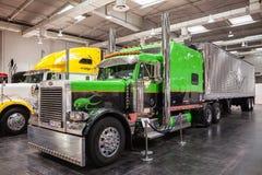 Camion d'exposition de Peterbilt Images libres de droits