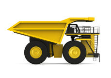 Camion d'extraction jaune Photo libre de droits