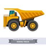 Camion d'extraction pour des opérations de terrassement Images libres de droits