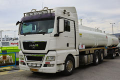 Camion d'homme image stock