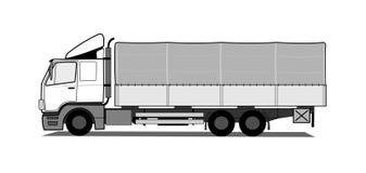 Camion de bâche de protection Images libres de droits