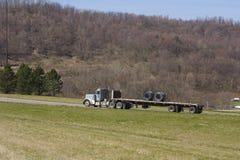 Camion de bâti plat photo stock
