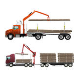 Camion de bois de construction Photographie stock