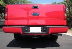 Camion de camionnette de livraison rouge Photos stock