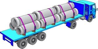 Camion de cargaison Photo stock