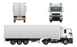 Camion de cargaison, véhicule de livraison Photographie stock libre de droits