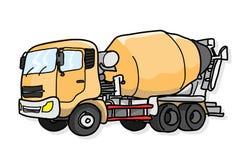 Camion de ciment Images libres de droits