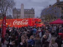 Camion de coca-cola en Preston Photographie stock