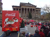 Camion de coca-cola en Preston Photo libre de droits