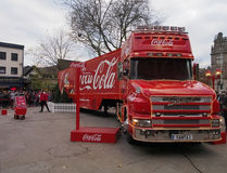 Camion de coca-cola en Preston Photos libres de droits