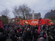 Camion de coca-cola en Preston Images stock