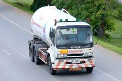 Camion de compagnie d'approvisionnement en gaz Photographie stock
