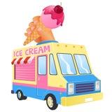 Camion de crème glacée  Photos libres de droits