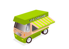 Camion de crème glacée  Photographie stock