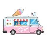 Camion de crème glacée, vue de côté Photographie stock