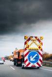 Camion de degré de sécurité de route Photos libres de droits