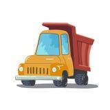 Camion de dessin animé d'isolement sur le fond blanc Vecteur Photo stock