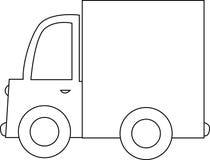 Camion de dessin animé noir et blanc Image libre de droits