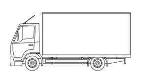 Camion de distribution Images libres de droits