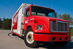 Camion de distribution de coca-cola Photo stock
