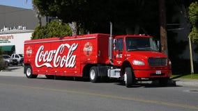 Camion de distribution de coca-cola Photo libre de droits
