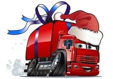 Camion de distribution de Noël de vecteur Photo libre de droits