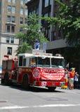 Camion de FDNY à LGBT Pride Parade à New York City Images libres de droits