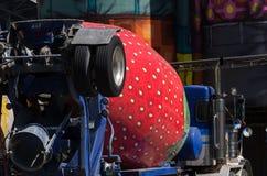 Camion de fraise Photographie stock libre de droits