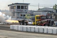 Camion de jet dans l'action Image libre de droits