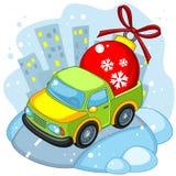 Camion de jouet de Noël chanceux Photographie stock libre de droits