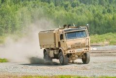 Camion de Kamaz dans le mouvement Russie Photographie stock libre de droits