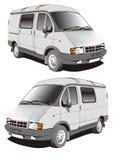 Camion de la distribution de vecteur petit Image stock