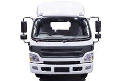 Camion de livraison commercial blanc sur un fond de ligth avec le shado Photos stock