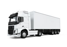 Camion de livraison de cargaison Photo libre de droits