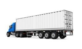 Camion de livraison de cargaison Images libres de droits