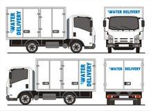 Camion de livraison de l'eau d'Isuzu NPR Images libres de droits