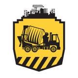 Camion de mélangeur concret illustration de vecteur